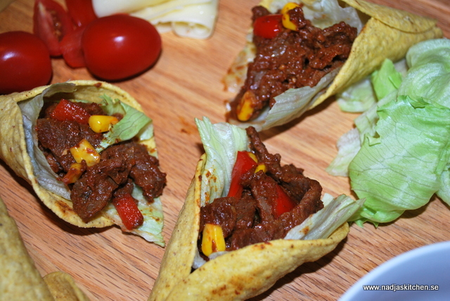 Lövbiff med tacosmak