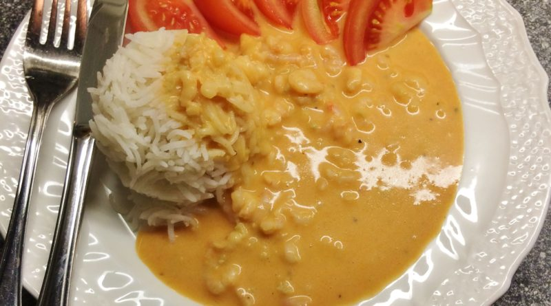 Vitlöksräkor med ris