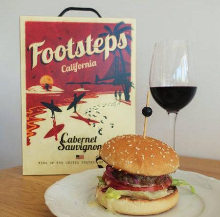 Footsteps rödvin alkohol