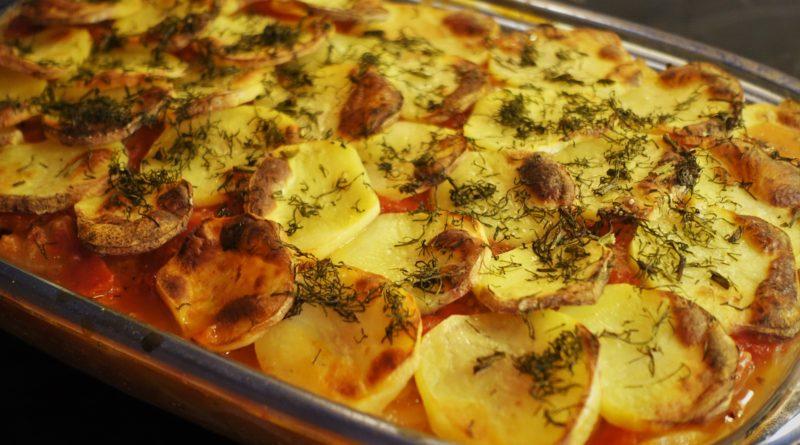 Potatis- och tonfiskgratäng