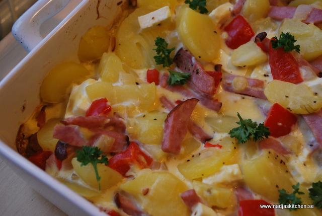 Potatisomelett med grönsaker och skinka nadjaskitchen