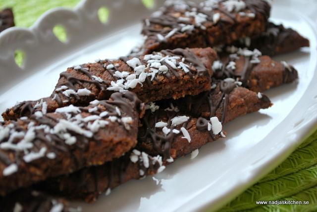 Chokladsnittar med kokos nadjas kitchen