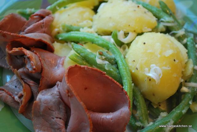 Grön Potatissallad med Rostbiff nadjas kitchen