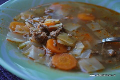 Kålsoppa med köttfärs nadjas kitchen