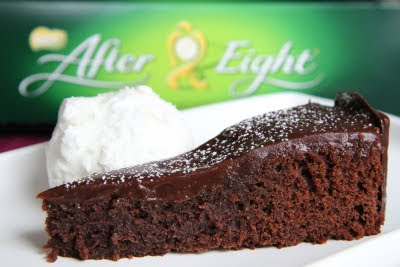 Lyxig kladdkaka med After Eight