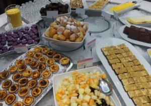 Delar av dessertbuffen
