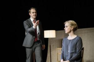Scener ur ett äktenskap av Ingmar Bergman Maximteatern 2017 Regi: Stefan Larsson I rollerna: Livia Millhagen och Jonas Karlsson