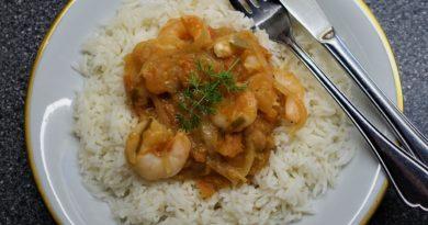 räkor och ris