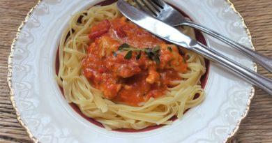 pasta och kyckling