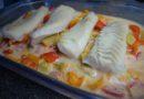 Fisk i ugn med grönsaker