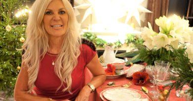 Maria Montazami sätter guldkant på julen