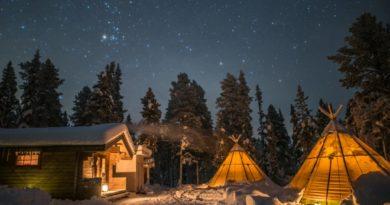 Glamorös camping i Sápmi