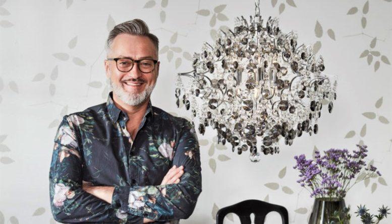 Tony Irving designar kristallkrona i modern tappning
