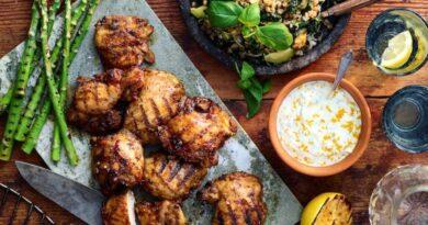 Kyckling med apelsintzatziki