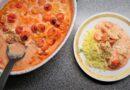 Lax i tomat- och chilisås