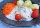 Fisk med kaviar- och gräslökssås